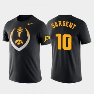 Performance For Men Mekhi Sargent Iowa T-Shirt #10 Black Football Icon