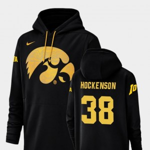 T.J. Hockenson University of Iowa Hoodie #38 Nike Football Performance Mens Black Champ Drive