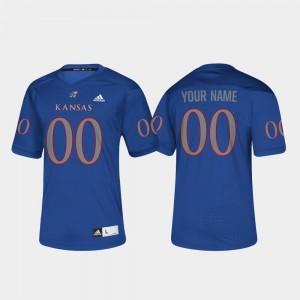 Royal For Men College Football #00 Kansas Jayhawks Customized Jersey