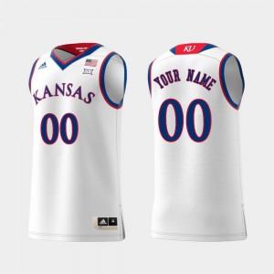 Kansas Customized Jerseys #00 Swingman College Basketball Mens White Replica
