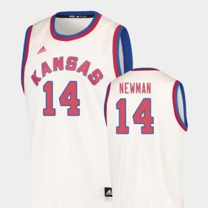 Malik Newman University of Kansas Jersey #14 College Basketball Cream Hardwood Classics Men's