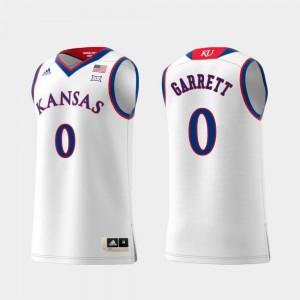 Marcus Garrett Kansas Jayhawks Jersey White #0 Replica Men's Swingman College Basketball