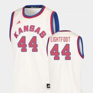 College Basketball Cream Hardwood Classics Mitch Lightfoot Kansas Jersey #44 Men's