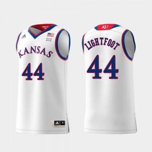Mitch Lightfoot Jayhawks Jersey #44 Swingman College Basketball Replica White For Men
