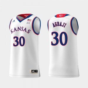 Ochai Agbaji Kansas Jayhawks Jersey For Men White Replica #30 Swingman College Basketball
