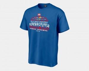 For Men's Kansas T-Shirt 2018 Big 12 Champions Locker Room Basketball Conference Tournament Royal