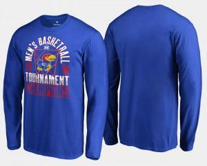 Jayhawks T-Shirt 2018 Big 12 Champions Long Sleeve For Men Basketball Conference Tournament Royal
