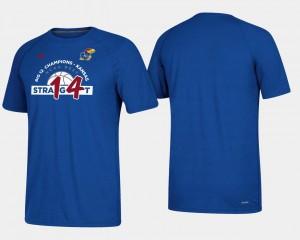 Jayhawks T-Shirt For Men Basketball Regular Season Royal 2018 Big 12 Champions 14 Straight