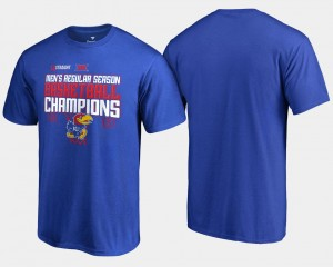 For Men Royal University of Kansas T-Shirt 2018 Big 12 Champions Basketball Regular Season