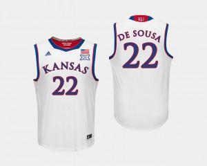 Silvio De Sousa Jayhawks Jersey For Men #22 College Basketball White