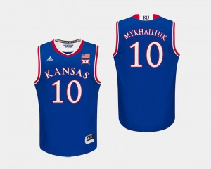 For Men's College Basketball Royal Sviatoslav Mykhailiuk Kansas Jersey #10