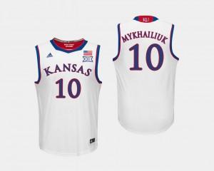 White Men's #10 Sviatoslav Mykhailiuk University of Kansas Jersey College Basketball