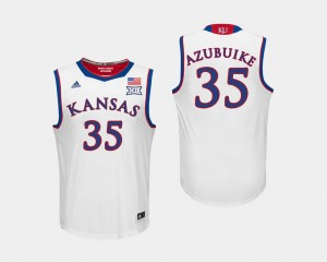 Men White #35 College Basketball Udoka Azubuike Kansas Jersey