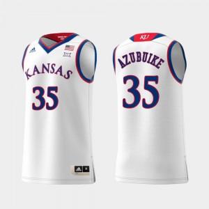 #35 Replica Swingman College Basketball White Men Udoka Azubuike University of Kansas Jersey