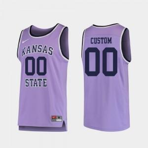 Men's Replica Kansas State University Custom Jerseys College Basketball Purple