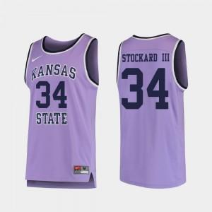 Replica #34 Levi Stockard III Kansas State Jersey College Basketball Purple Men