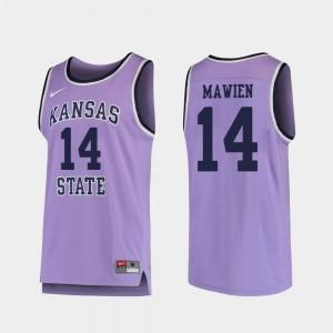 Replica Makol Mawien Kansas State Wildcats Jersey #14 College Basketball Purple Men