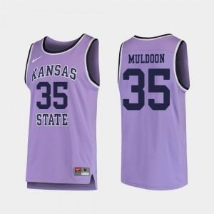 Replica Purple #35 College Basketball For Men Patrick Muldoon Kansas State Jersey