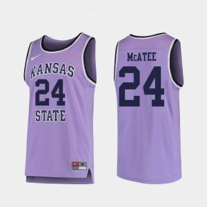 #24 Pierson McAtee Kansas State Wildcats Jersey College Basketball Replica Purple Men