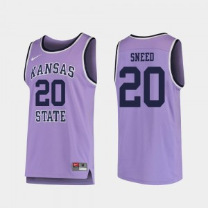 Xavier Sneed K-State Jersey College Basketball For Men's #20 Purple Replica