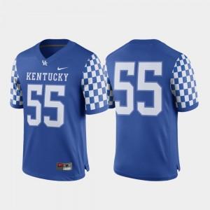 University of Kentucky Jersey Royal #55 College Football Nike Game Mens