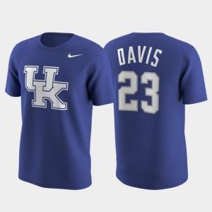 #23 Mens Nike Replica College Future Star Future Stars Anthony Davis Wildcats T-Shirt Royal