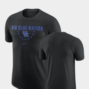 Black University of Kentucky T-Shirt Nike Basketball Team Men's
