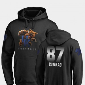Mens Black #87 Fanatics Branded Football Midnight Mascot C.J. Conrad Wildcats Hoodie