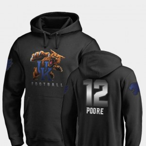 For Men #12 Fanatics Branded Football Midnight Mascot Black Chance Poore Wildcats Hoodie