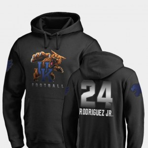 Midnight Mascot #24 Black Fanatics Branded Football Christopher Rodriguez Jr. University of Kentucky Hoodie Mens