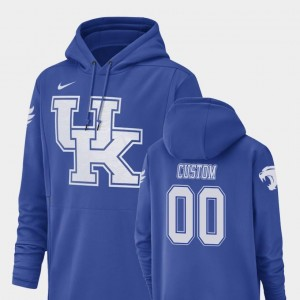 Royal Men University of Kentucky Custom Hoodies #00 Champ Drive Nike Football Performance