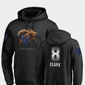 Mens Fanatics Branded Football Black Danny Clark Kentucky Wildcats Hoodie #8 Midnight Mascot
