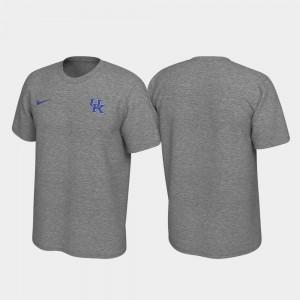 Kentucky Wildcats T-Shirt Heathered Gray Legend For Men Left Chest Logo