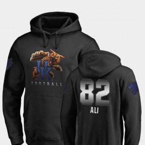 Fanatics Branded Football Midnight Mascot Josh Ali Kentucky Hoodie #82 Men Black