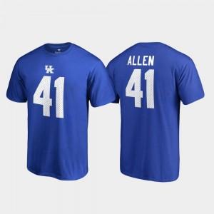 Josh Allen UK T-Shirt Royal #41 Fanatics Branded Name & Number For Men College Legends