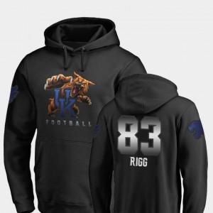 Black #83 Justin Rigg UK Hoodie Fanatics Branded Football For Men Midnight Mascot