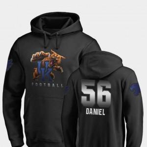 Fanatics Branded Football Black Midnight Mascot Men's Kash Daniel University of Kentucky Hoodie #56