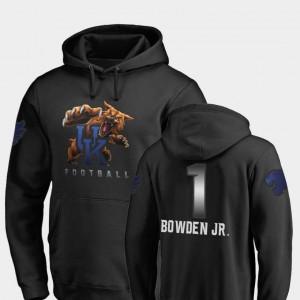 Men Midnight Mascot Fanatics Branded Football Black Lynn Bowden Jr. University of Kentucky Hoodie #1