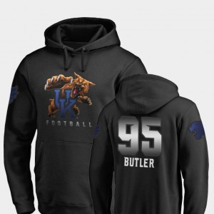 Men #95 Midnight Mascot Black Fanatics Branded Football Miles Butler Wildcats Hoodie