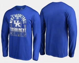 Kentucky T-Shirt Basketball Conference Tournament Royal Men 2018 SEC Champions Long Sleeve