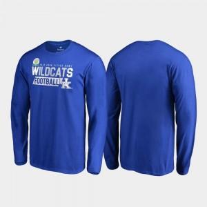 Men Audible Long Sleeve Fanatics Branded 2019 Citrus Bowl Bound Royal Wildcats T-Shirt