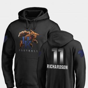 Men Tavin Richardson Wildcats Hoodie #11 Black Midnight Mascot Fanatics Branded Football