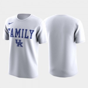 White Family on Court Men Wildcats T-Shirt March Madness Legend Basketball Performance