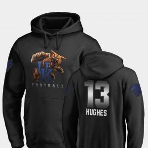 Black Midnight Mascot Men's Fanatics Branded Football Zy'Aire Hughes Wildcats Hoodie #13
