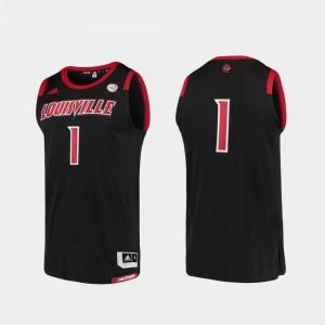 Black Cardinals Jersey #1 Basketball Swingman College Adidas Replica Men's