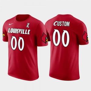 Louisville Cardinals Custom T-Shirt Mens Future Stars Red Cotton Football #00