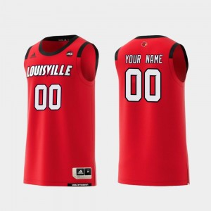 Louisville Customized Jerseys For Men Red Replica #00 College Basketball