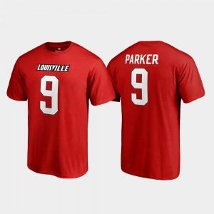 #9 Mens College Legends DeVante Parker Cardinals T-Shirt Red Name & Number