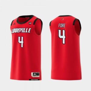 College Basketball Replica Men #4 Red Khwan Fore Louisville Jersey