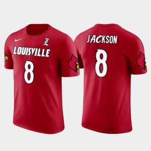 Baltimore Ravens Football Lamar Jackson Louisville T-Shirt Red #8 Future Stars Mens